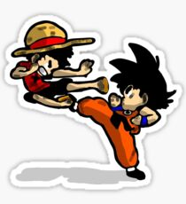 son goku vs luffy Sticker