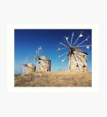 Patmos Windmills  Art Print
