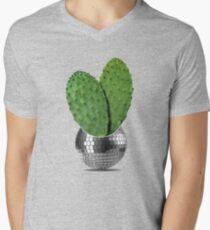 Cactus disco party Men's V-Neck T-Shirt