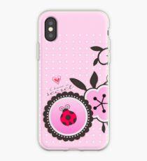 Miraculous Ladybug / Marinette Dupain-Cheng - Pink polka dot flower design iPhone Case