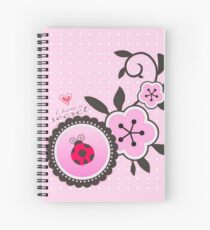 Miraculous Ladybug / Marinette Dupain-Cheng - Pink polka dot flower design Spiral Notebook