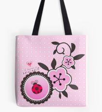 Miraculous Ladybug / Marinette Dupain-Cheng - Pink polka dot flower design Tote Bag