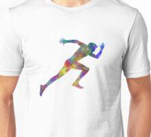 Man running sprinting jogging Unisex T-Shirt