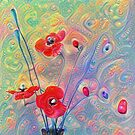 #Deepdreamed Poppies by blackhalt