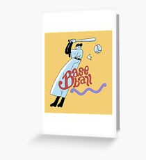 OFF - Baseball Greeting Card