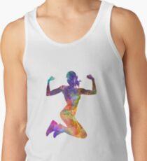 Woman runner jogger jumping powerful T-Shirt