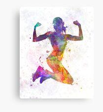 Frauenläufer-Rüttler, der stark springt Metallbild