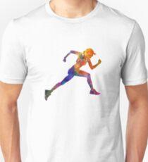 Woman runner jogger running Unisex T-Shirt