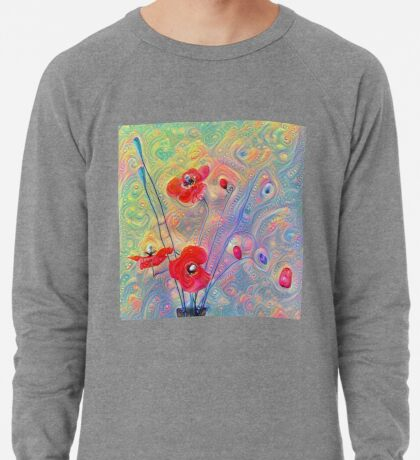 #Deepdreamed Poppies Lightweight Sweatshirt