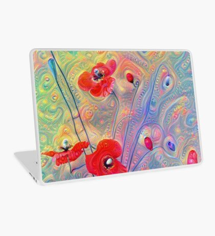 #Deepdreamed Poppies Laptop Skin