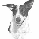 hannah the dog rawing by Mike Theuer