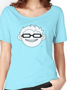 Superhero and nerd with braces and black glasses Women's Relaxed Fit T-Shirt