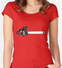 Chain Saw Chainsaw Chain-Saw! Women's Fitted Scoop T-Shirt