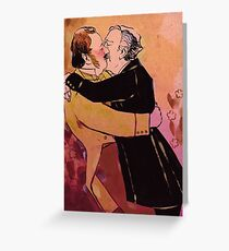 Jago and Litefoot sitting in a tree K-I-S-S-I-N-G Greeting Card