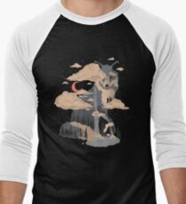 At the Foot of Fox Mountain... Men's Baseball ¾ T-Shirt