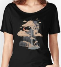 At the Foot of Fox Mountain... Women's Relaxed Fit T-Shirt