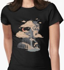 At the Foot of Fox Mountain... Women's Fitted T-Shirt