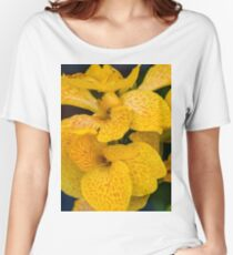 Orchid Vanda Yellow Women's Relaxed Fit T-Shirt