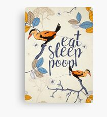 Eat. Sleep. Poop. Canvas Print