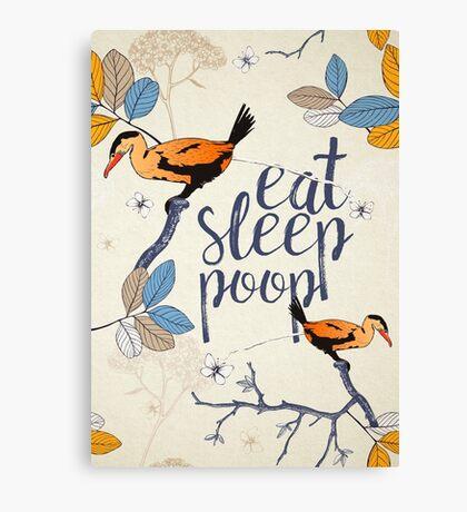 Eat. Sleep. Poop. Canvas Print