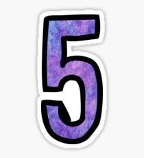 Number 5 Sticker
