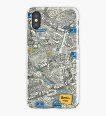 Illustrated map of Berlin-Mitte. Green iPhone Case/Skin
