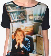 DANA SCULLY x files Women's Chiffon Top