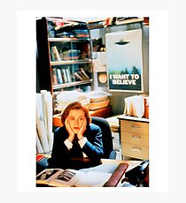 DANA SCULLY x files Photographic Print