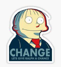 Ralph Wiggum for President 2016 Sticker