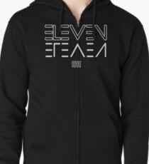 Eleven Upside Down Zipped Hoodie