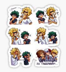 The Similarities Between All Might&Izuku  Sticker