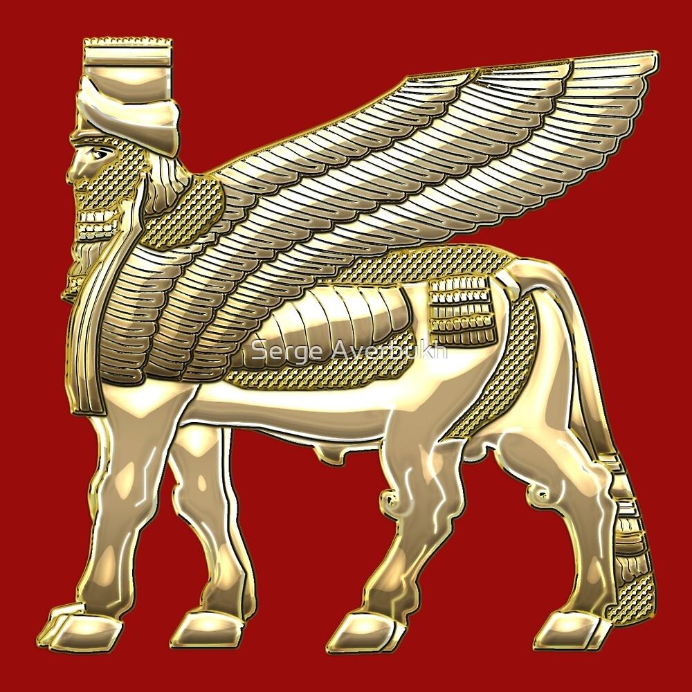 Quot Babylonian Winged Bull Lamassu Gold Quot By Serge Averbukh