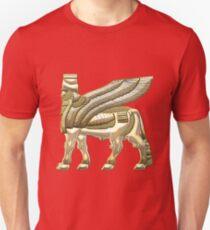 Babylonian Winged Bull Lamassu [Gold] T-Shirt