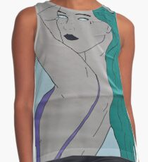 the strong beauty with the green hair Contrast Tank