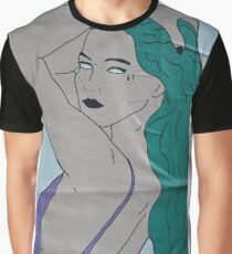 the strong beauty with the green hair Graphic T-Shirt