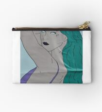 the strong beauty with the green hair Zipper Pouch