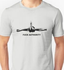 Fuck Authority (Barbwire) Slim Fit T-Shirt