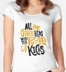 all the other kids wit the pumped up kicks Women's Fitted Scoop T-Shirt