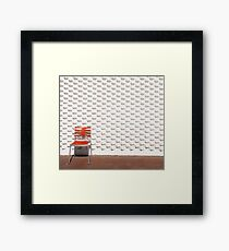 Gallery Wall and Chair Framed Print