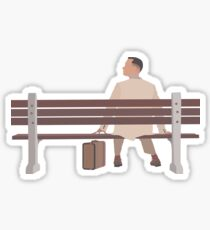 Forrest Gump Minimalist Art Work Sticker