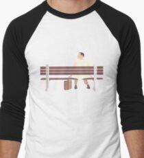 Forrest Gump Minimalist Art Work Men's Baseball ¾ T-Shirt