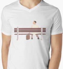 Forrest Gump Minimalist Art Work Men's V-Neck T-Shirt