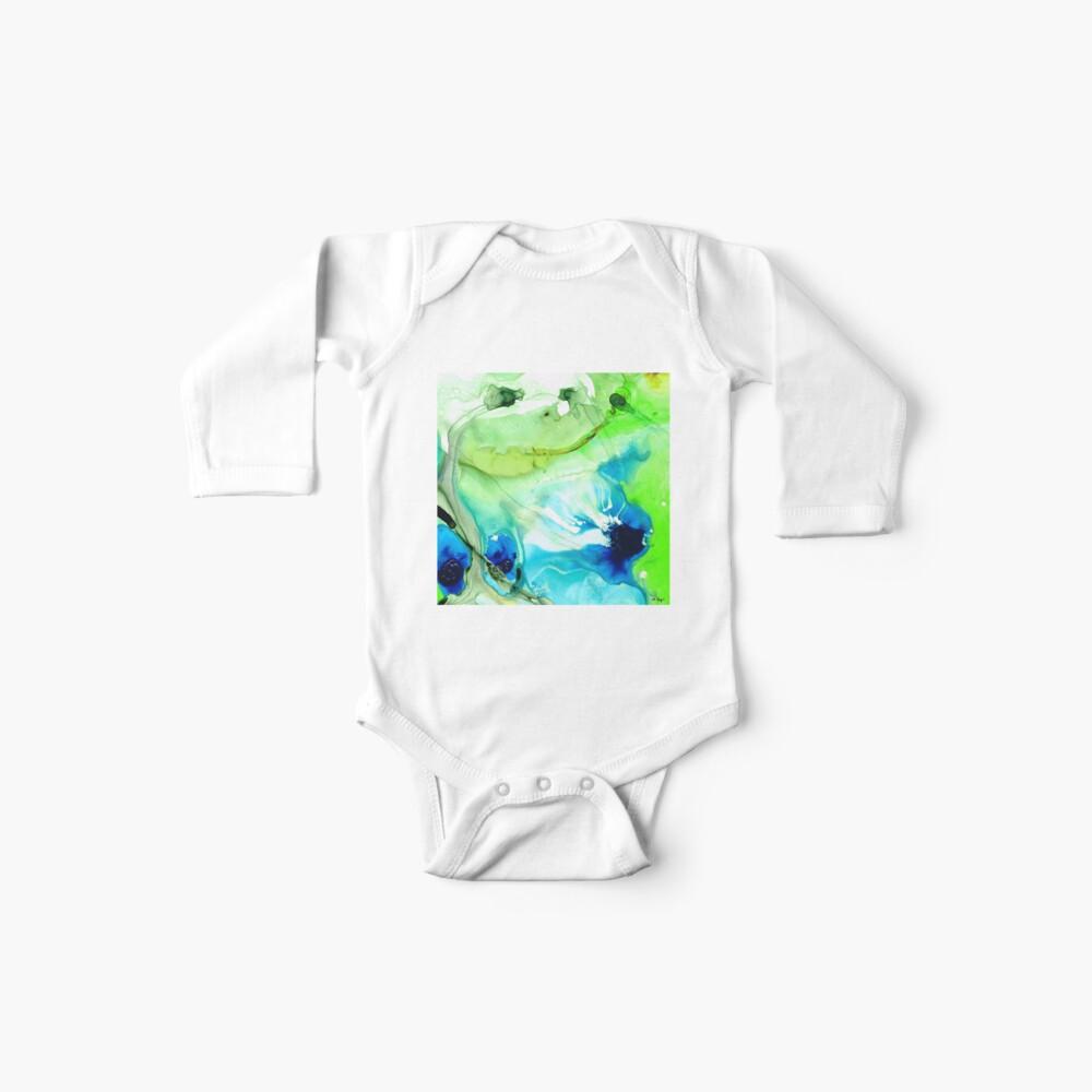 Blauer und grüner Auszug - Land und Meer - Sharon Cummings Baby Body