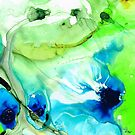 Blue And Green Abstract - Land And Sea - Sharon Cummings by Sharon Cummings