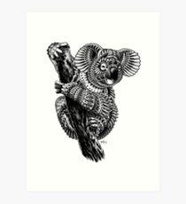 Ornate Koala Art Print