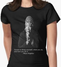 Maya Angelou Women's Fitted T-Shirt
