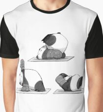 Pilates Panda Graphic T-Shirt