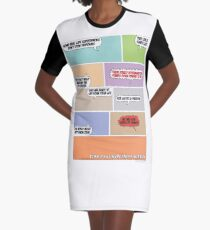 Real Life Superheroes Graphic T-Shirt Dress