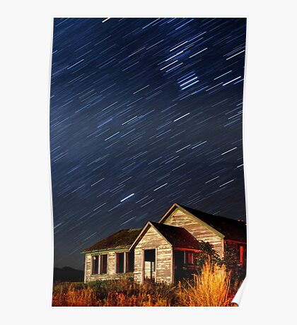 Orion Screaming Overhead - Star Trails Poster