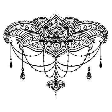 Henna Kronleuchter in Schwarz von Lil-Salt